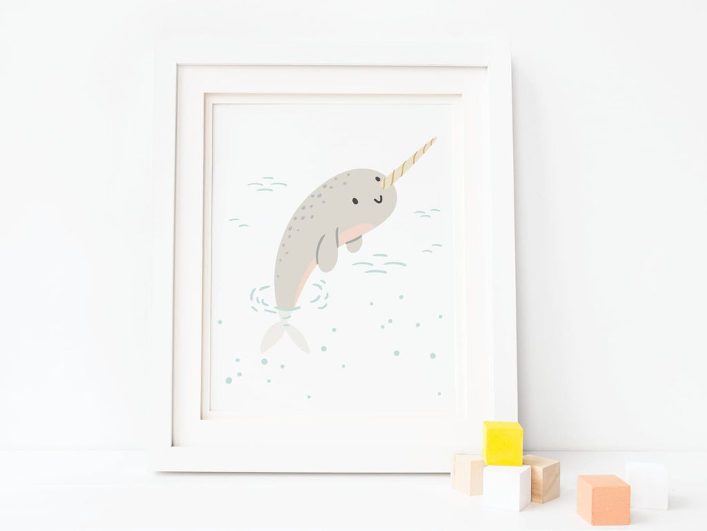 Nautical Narwhal - Art Print - Onderkast Studio