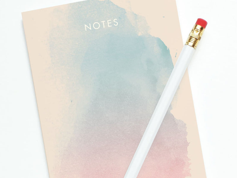 Pink + Blue Watercolor Notes - Notepads - Onderkast Studio