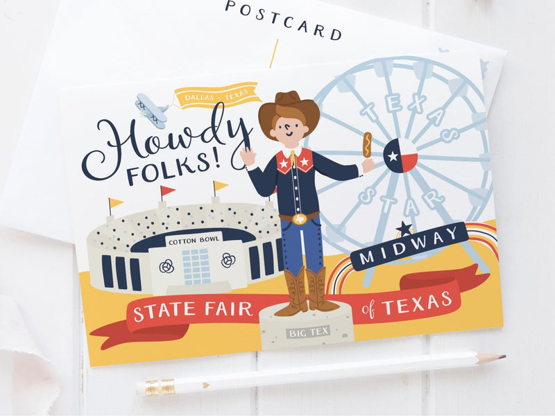 State Fair of Texas Postcard - onderkast-studio