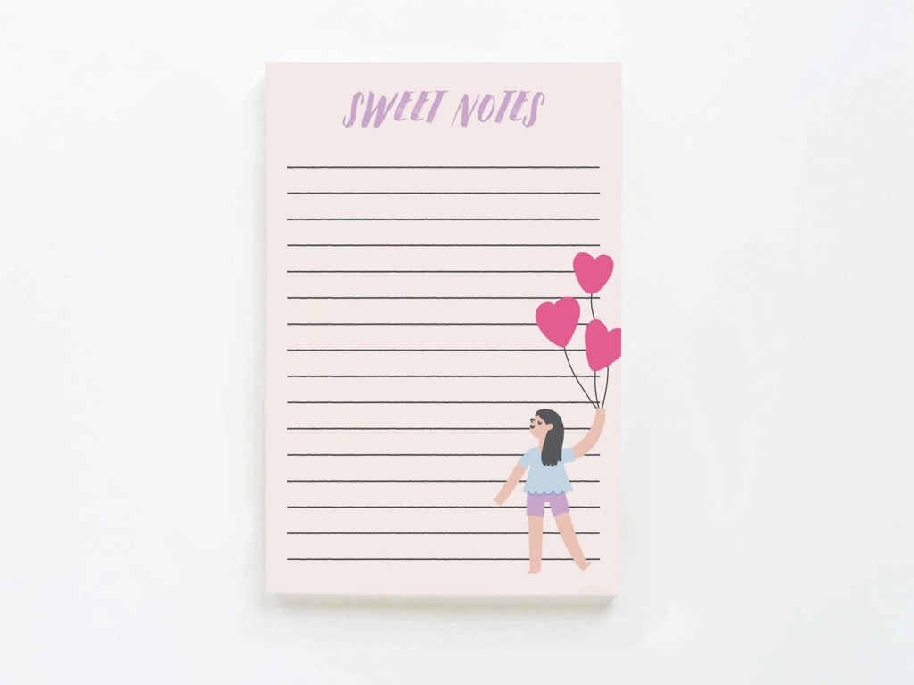 Sweet Notes Girl w/Heart Balloons - onderkast-studio