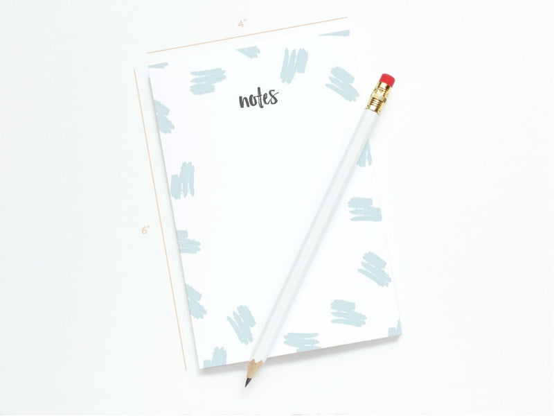 Trendy Brush Pattern Notes - Notepads - Onderkast Studio