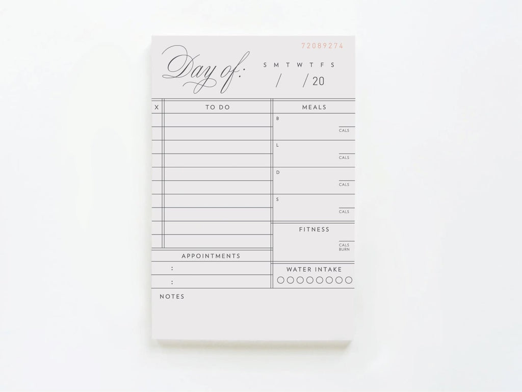 Vintage Daily Tasks To Do List + Meal Tracking - Notepads - Onderkast Studio