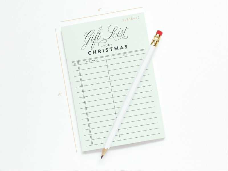 Vintage Gift List For Christmas - Notepads - Onderkast Studio