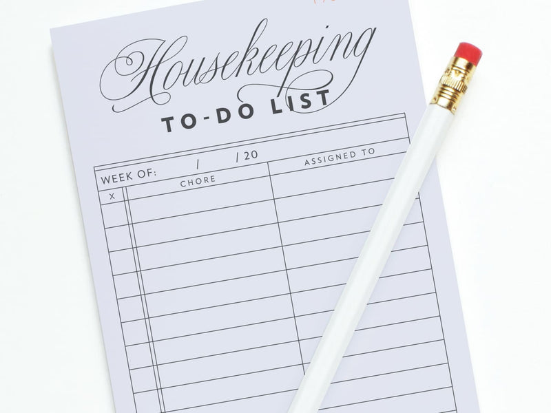 Vintage Housekeeping To-Do List - Notepads - Onderkast Studio