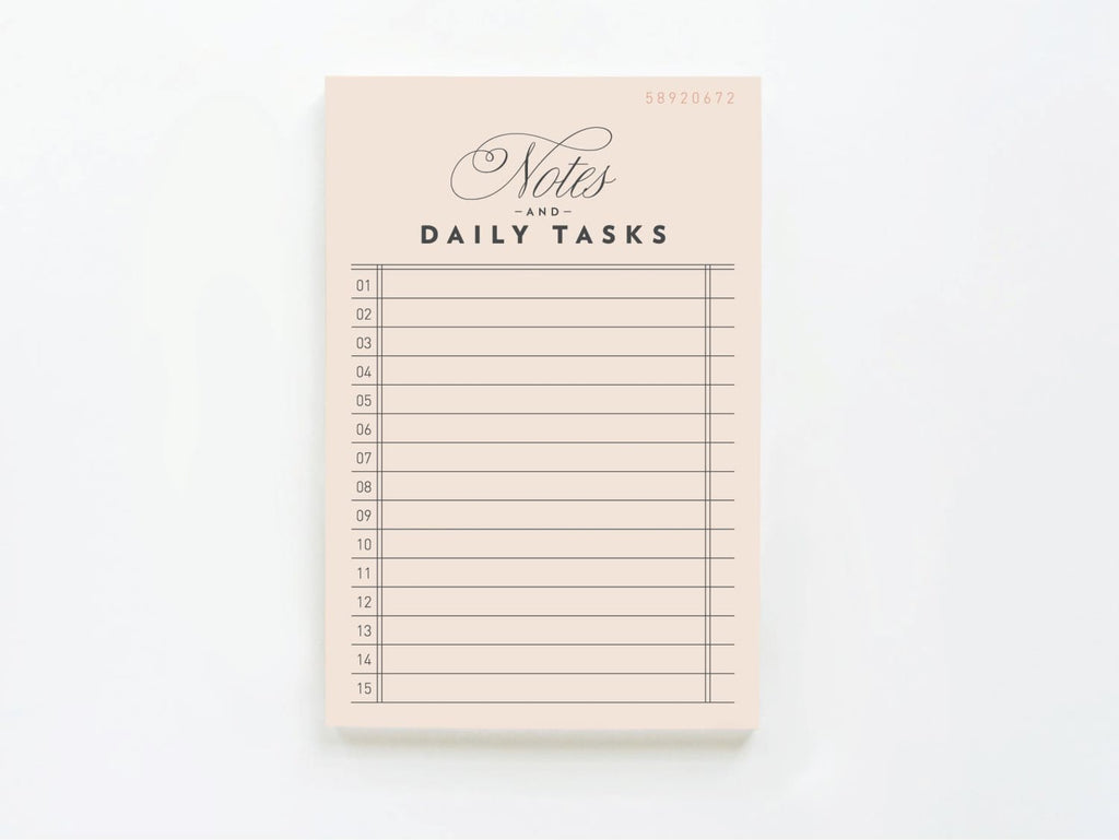Vintage Notes & Daily Tasks - onderkast-studio