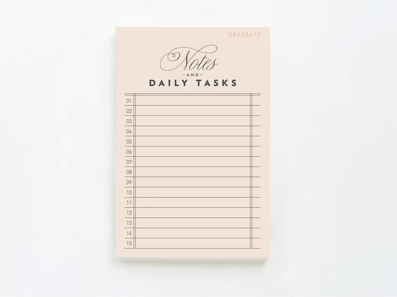 Vintage Notes & Daily Tasks - Notepads - Onderkast Studio