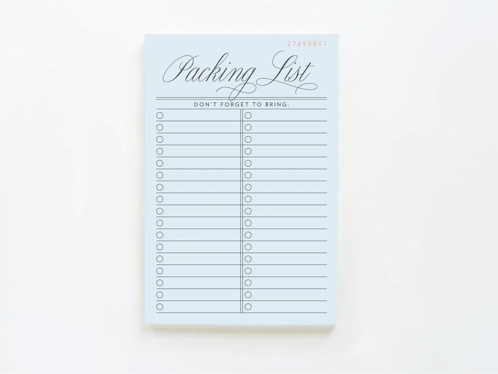 Vintage Packing List - onderkast-studio