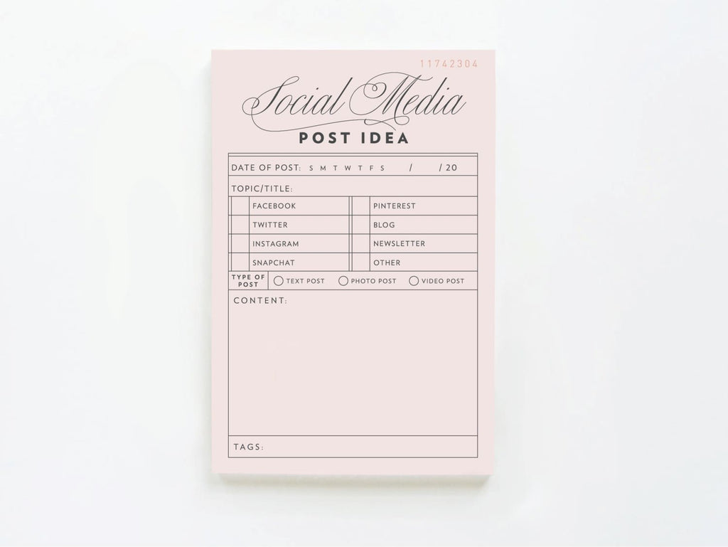 Vintage Social Media Post Idea - Notepads - Onderkast Studio