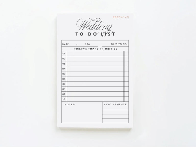 Vintage Wedding To Do List - Notepads - Onderkast Studio