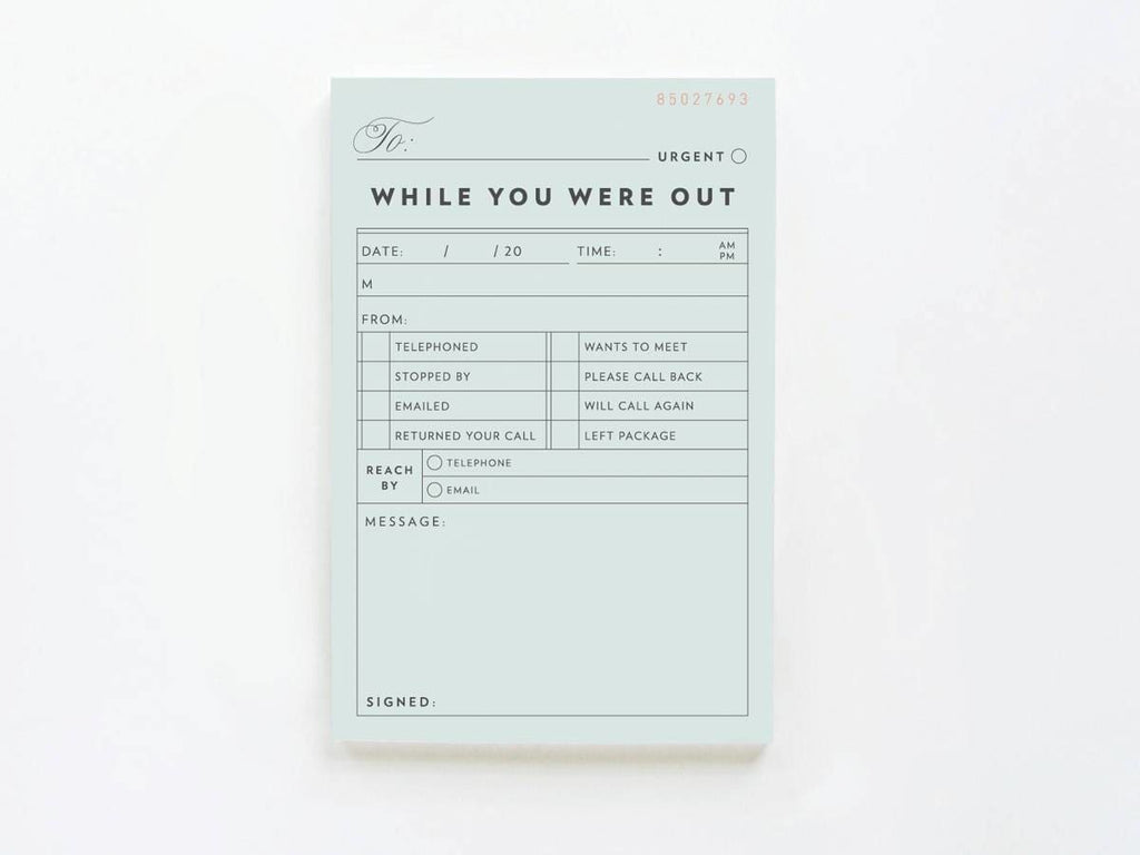 Vintage While You Were Out - Notepads - Onderkast Studio