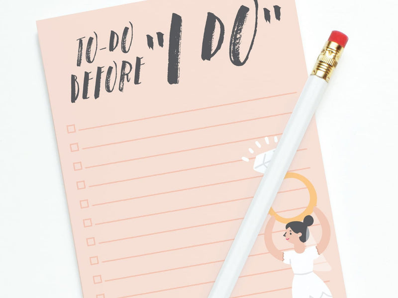 Wedding To Do Before I Do - Notepads - Onderkast Studio
