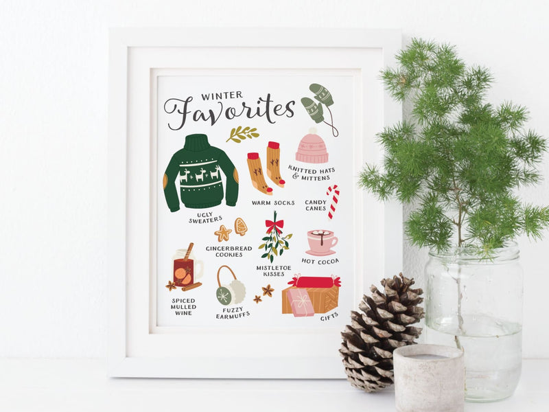 Winter Favorites Art Print - onderkast-studio