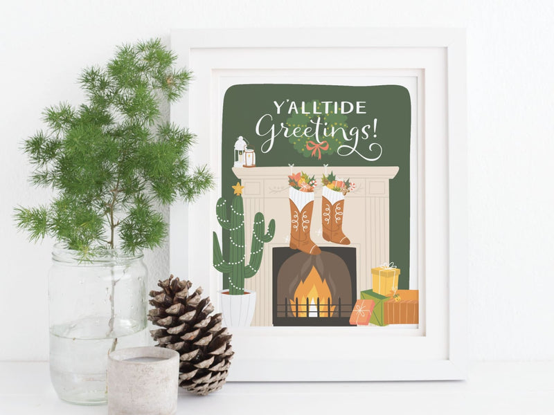 Y'alltide Greetings Art Print - onderkast-studio