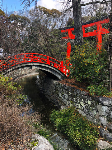 Traditional bridge at Shimogamo Shrine