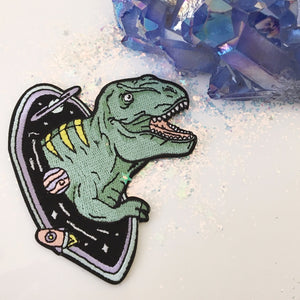 T-Rex in a Black Hole Patch