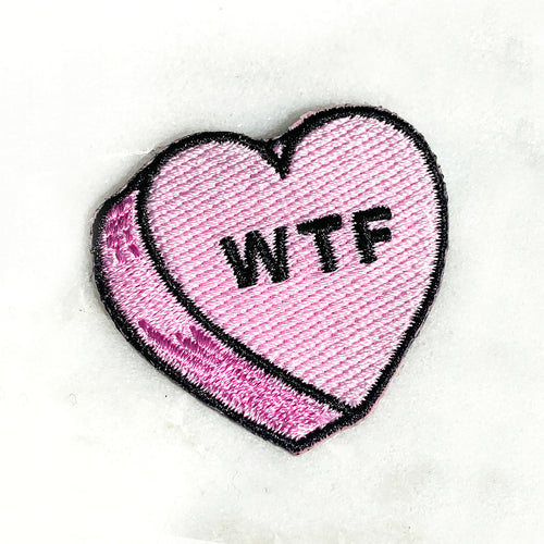 Candy Heart WTF Patch - Gold Crow Co.