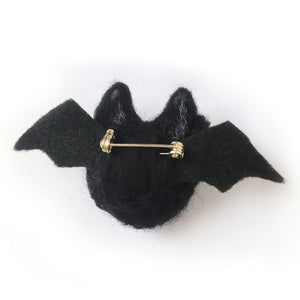 Needlefelt Bat Halloween Pin - Gold Crow Co.