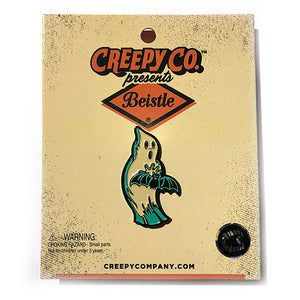 Beistle Batty Ghost Enamel Pin - Gold Crow Co.