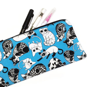 All Over Cats Pencil Case - Gold Crow Co.