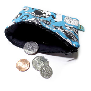 All Over Cats Mini Zipper Pouch - Gold Crow Co.