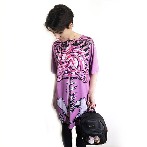 Lollipop Skeleton Long T-shirt - Gold Crow Co.