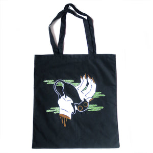 Cat Familiar Tote Bag - Gold Crow Co.