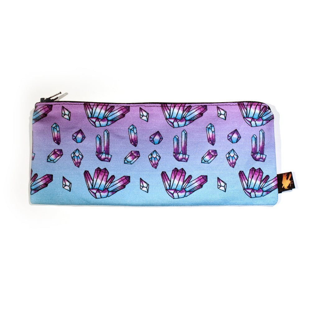 Crystal Pattern Pencil Case - Gold Crow Co.