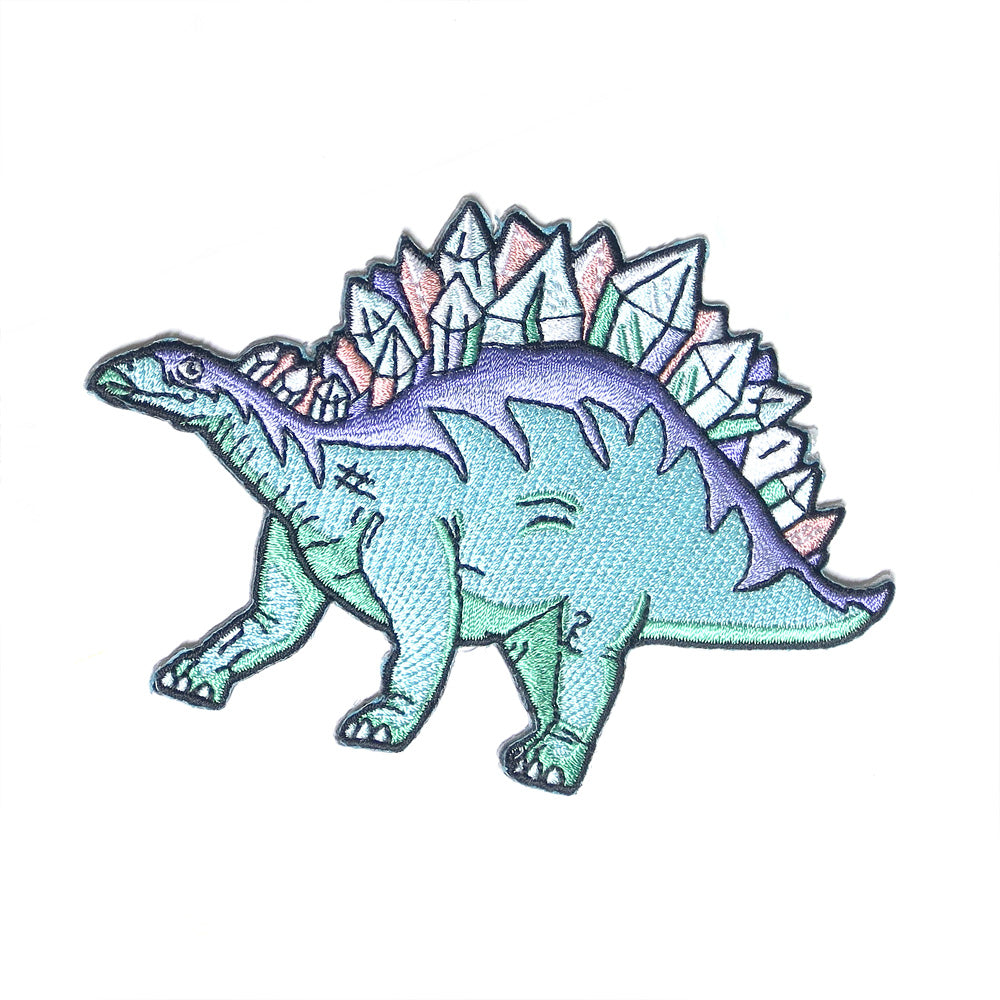Crystal Dino Embroidered Patch - Gold Crow Co.