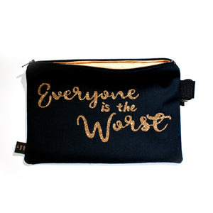 Everyone is the Worst Clutch Bag - Gold Crow Co.