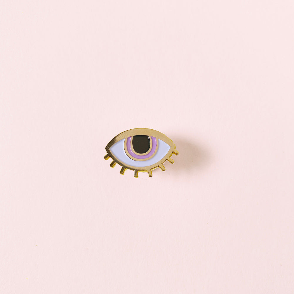 Eyeball Enamel Pin - Gold Crow Co.