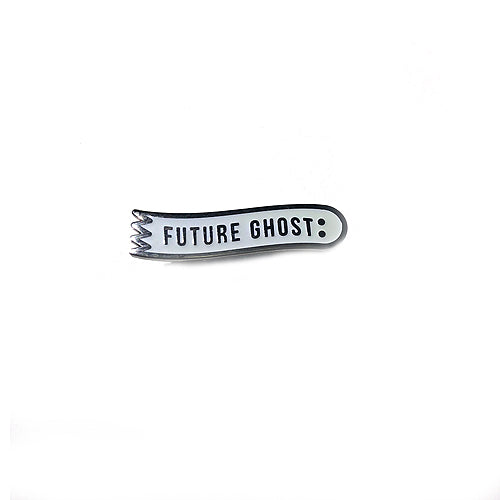 Future Ghost Enamel Pin - Gold Crow Co.