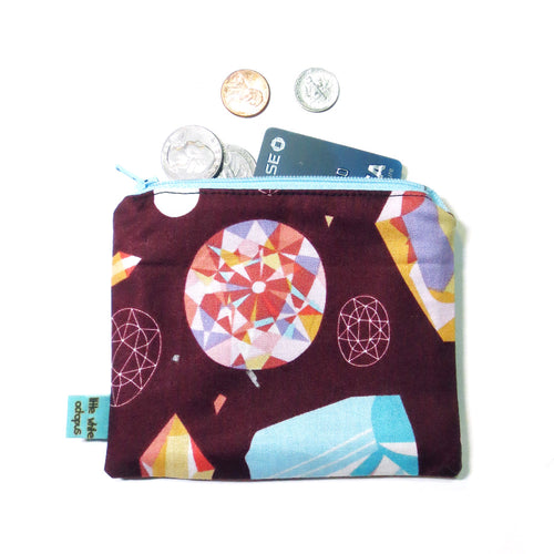 Crystal Gem Mini Zipper Pouch - Gold Crow Co.