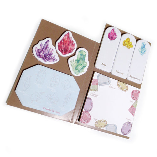Mineralogy Sticky Note Set - Gold Crow Co.