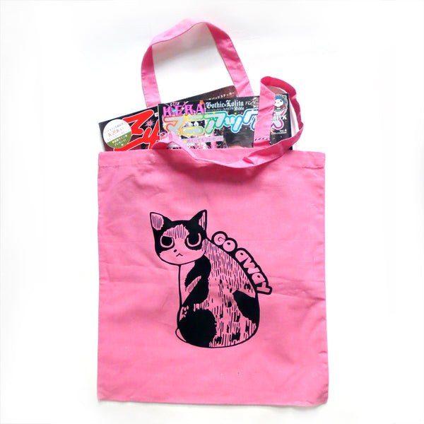 Go Away Cat Tote Bag - Gold Crow Co.