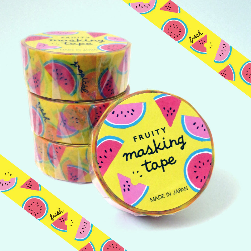 Fruity Watermelon Washi Tape - Gold Crow Co.