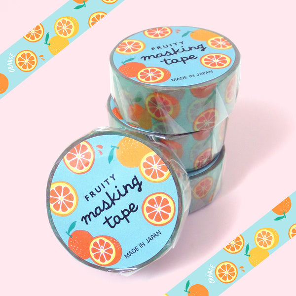 Fruity Orange Washi Tape - Gold Crow Co.