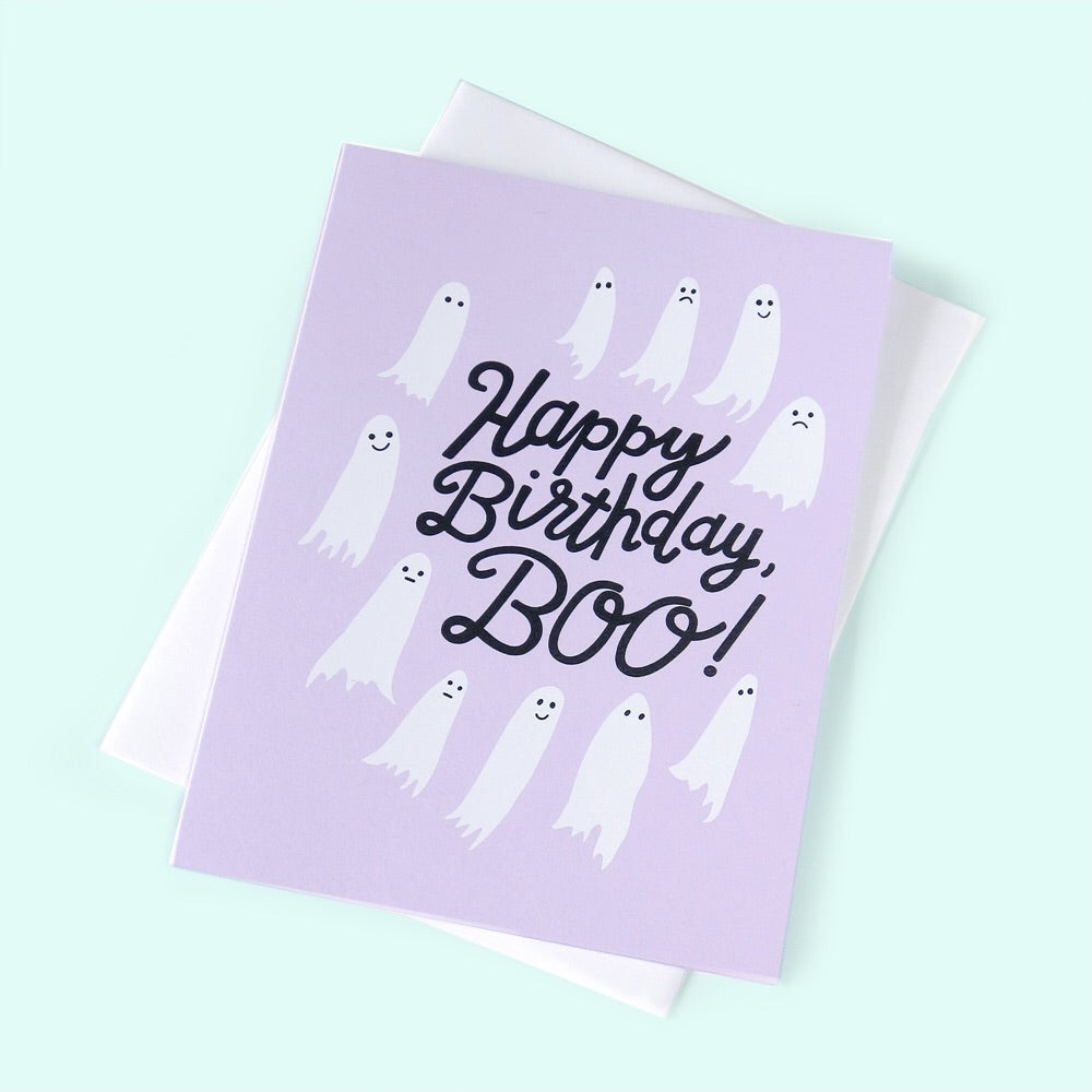 Happy Birthday, Boo! Greeting Card - Gold Crow Co.