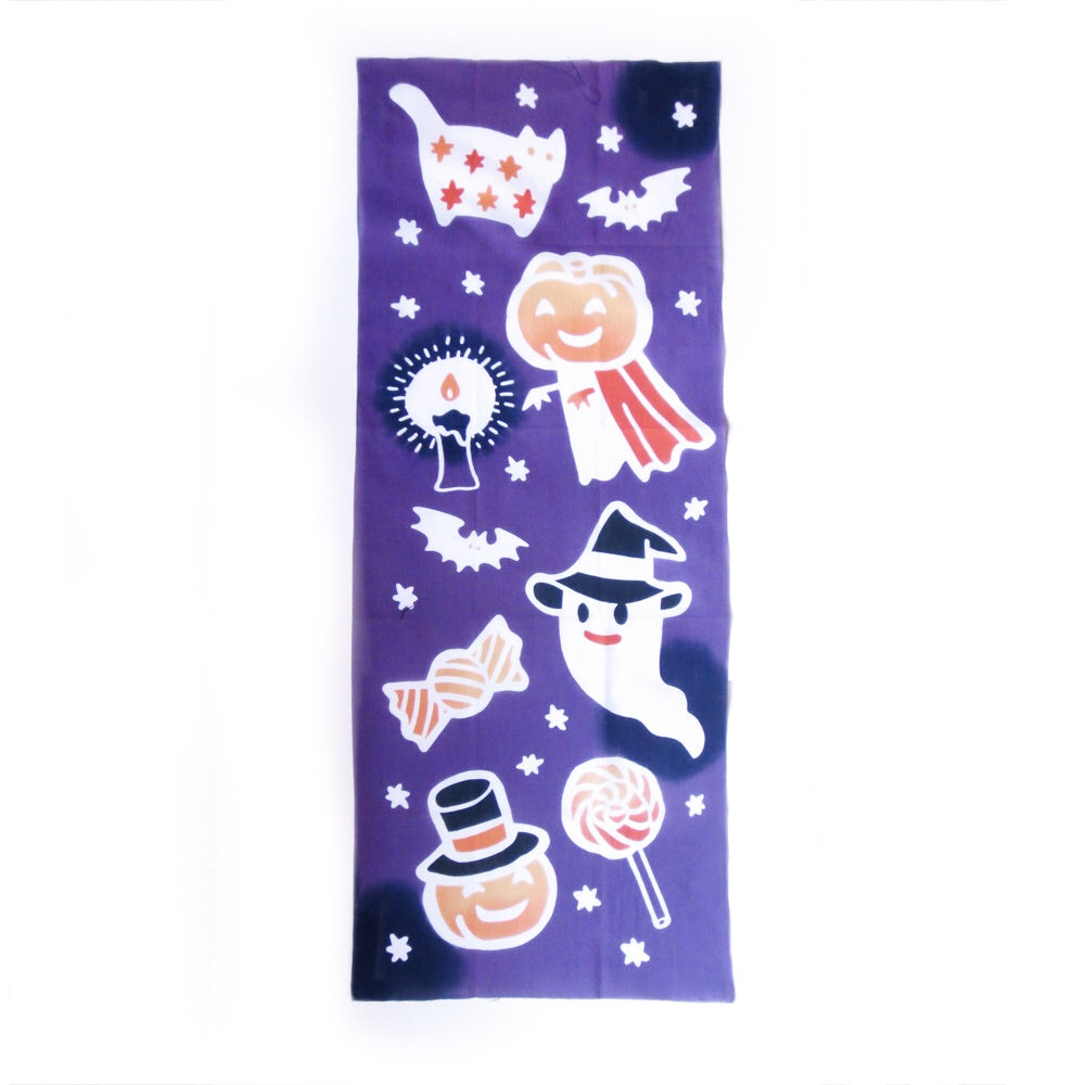Trick or Treat Japanese Tea Towel - Gold Crow Co.