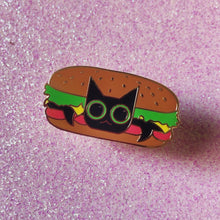 Burger Cat Hard Enamel Pin