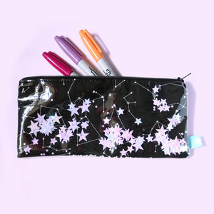 Constellation Confetti Pencil Case - Gold Crow Co.