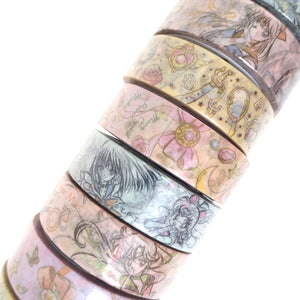 Sailor Moon Senshi Accessories Washi Tape - Gold Crow Co.