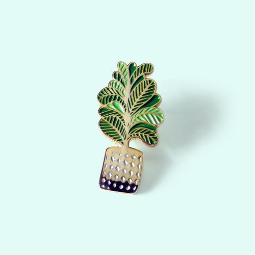 Cute Little Plant Enamel Pin - Gold Crow Co.