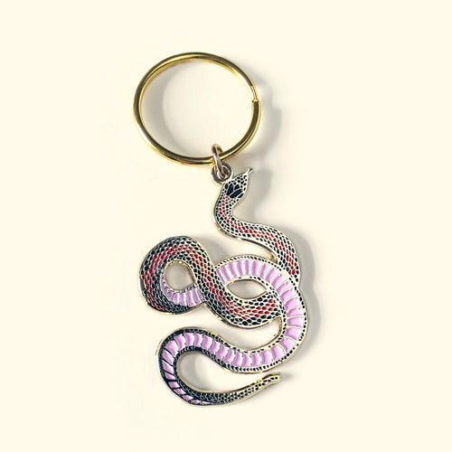 Snake Enamel Keychain - Gold Crow Co.