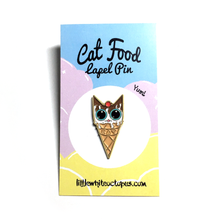 Vanilla Ice Cream Kitty Soft Enamel Pin - Gold Crow Co.