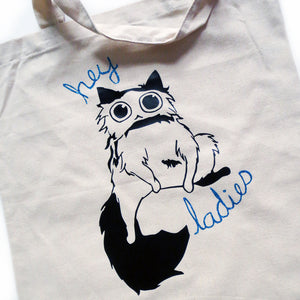 Hey Ladies Cat Tote Bag - Gold Crow Co.