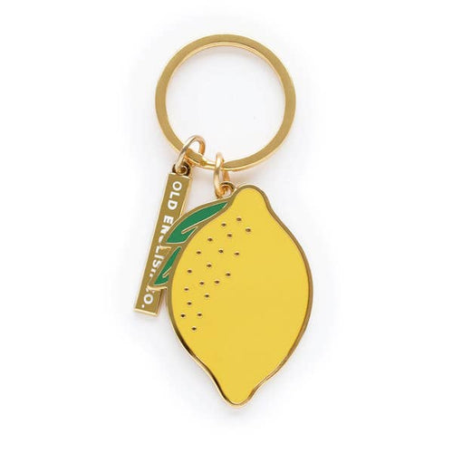 Lemon Hard Enamel Keychain - Gold Crow Co.