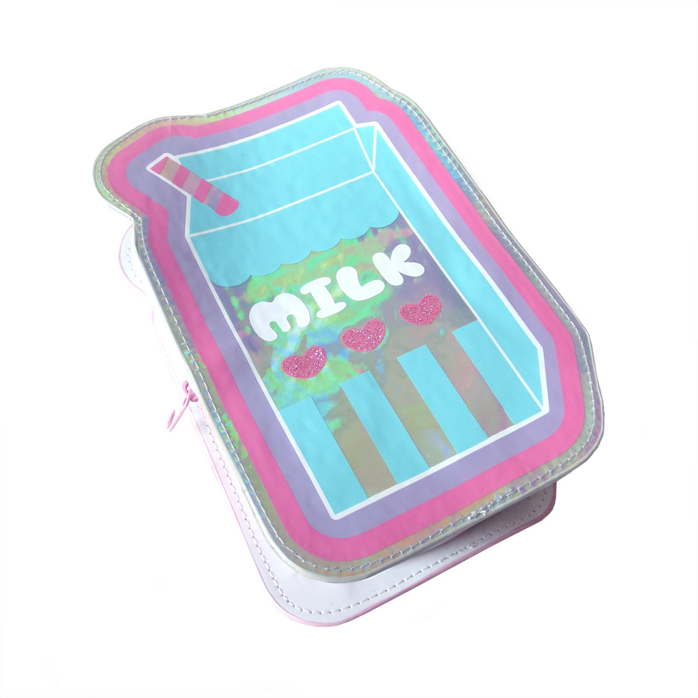 Holographic Milk Zipper Case - Gold Crow Co.
