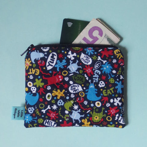 Monsters Mini Zipper Pouch