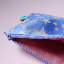 Glittery Purple Sky Mini Zipper Pouch