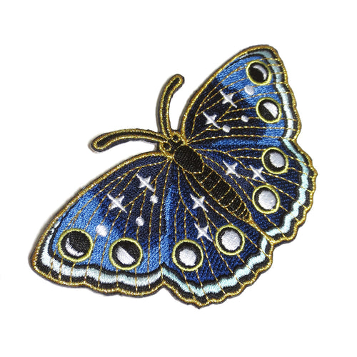 Night Butterfly Embroidered Patch - Gold Crow Co.